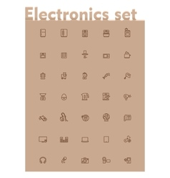 Domestic electronics icon set vector