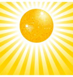 Gold disco ball background vector
