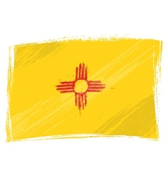 Grunge new mexico flag vector