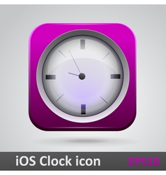 Clock glossy icon vector