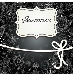 Christmas invitation card vector