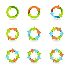 Circle arrow icons vector