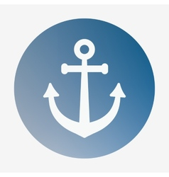 Pirate or sea icon anchor flat style vector