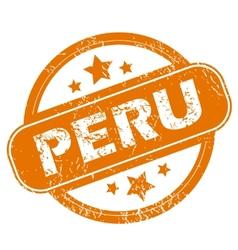 Peru grunge icon vector