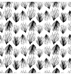 Abstract seamless pattern black grass ornament vector