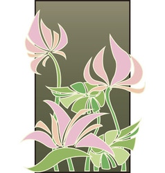 Flowers composition in art deco style vector
