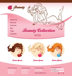 Design for beauty web site vector