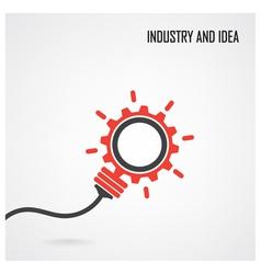 Creative light bulb concept background vector