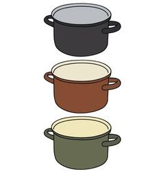 Color pot vector