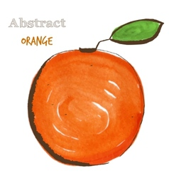 Abstract orange in mixed style with sketch and vector