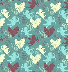 Happy valentines day seamless pattern vector