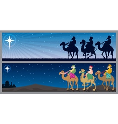 Three kings landscapes vector