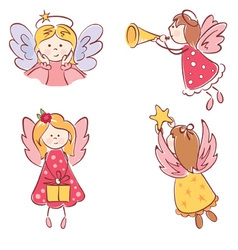 Collection of angels vector