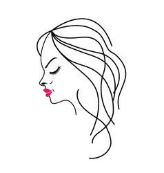 Beautiful lady with a lovely hairstyle vector