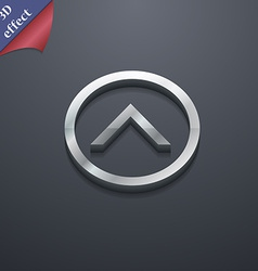 Direction arrow up icon symbol 3d style trendy vector