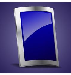 Empty rectangle shape metal shield vector