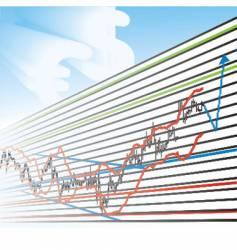 Profit graphs vector