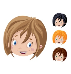 Smiling head of girl vector