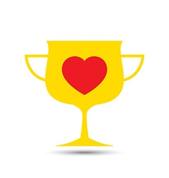 Love heart trophy vector
