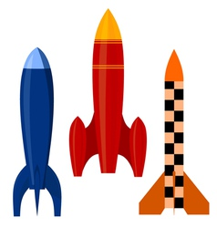 Set of rockets eps10 vector