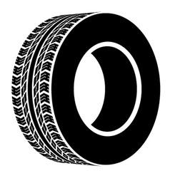 Black terrain tyre symbol vector