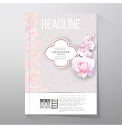 Floral background with place for text and pink vector