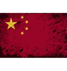 Chinese flag grunge background vector