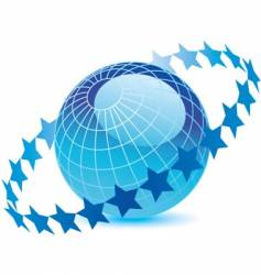 Globe-stars vector
