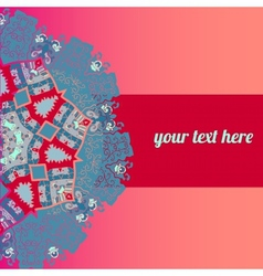 Ornate frame with sample text pink vector