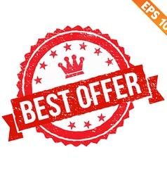Grunge best offer rubber stamp - - eps10 vector