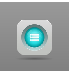 Playlist button vector