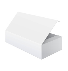 White blank package box opened for electronic vector
