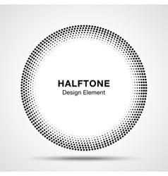 Black abstract halftone circle logo design element vector
