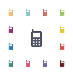 Mobile phone flat icons set vector