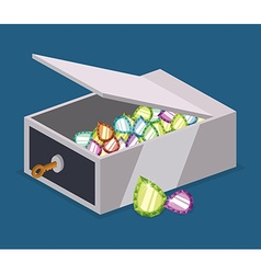 Strongbox design vector