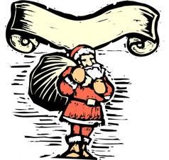 Santa claus scroll vector