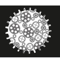 Isolated gears vector