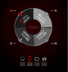 Infographics concept to display your data vector