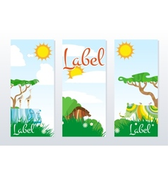 African animals cards vector