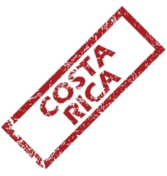 New costa rica rubber stamp vector