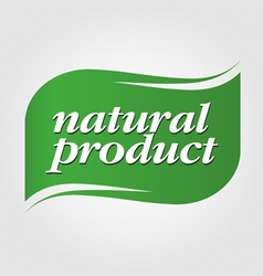 Green natural product brand vector
