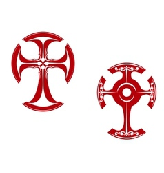 Two stylized crosses vector