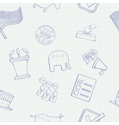 Election hand drawn seamless pattern vector