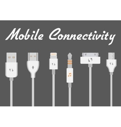 Connectors for mobile devices vector