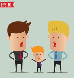 Business man discussion - - eps10 vector