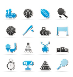 Sport equipment icons vector
