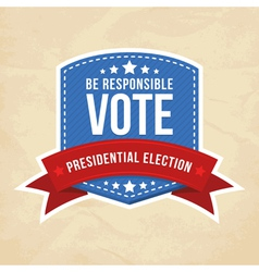 Presidential election label vector