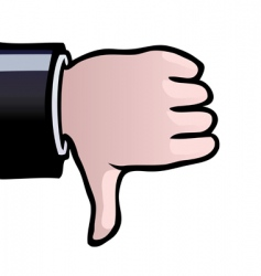 Thumbs down vector