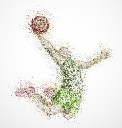 Abstract basketball player2 vector
