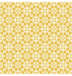 Yellow colors asian damask pattern vector